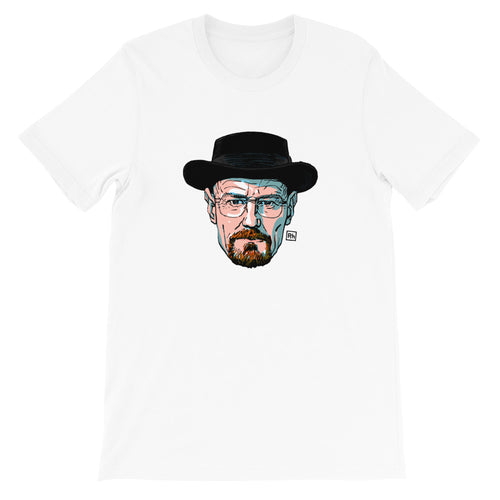Walter White on White Adult Tee