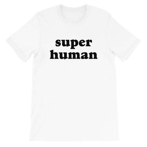 Super Human B&W Adult Tee