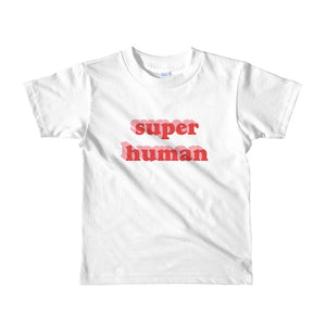 Super Human Little Kid tee