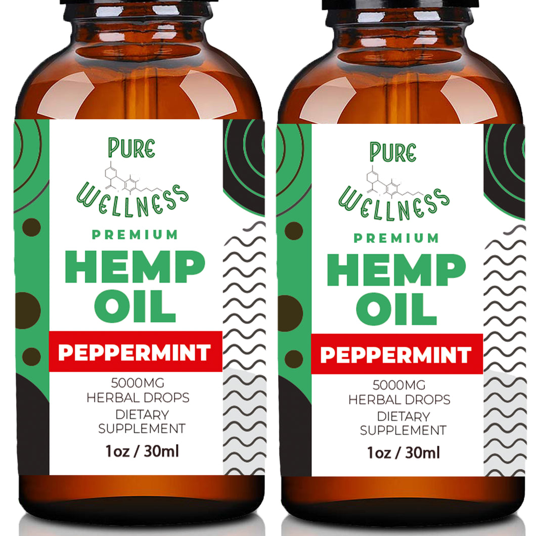 Hemp Oil Extract 5,000MG (2-Pack)