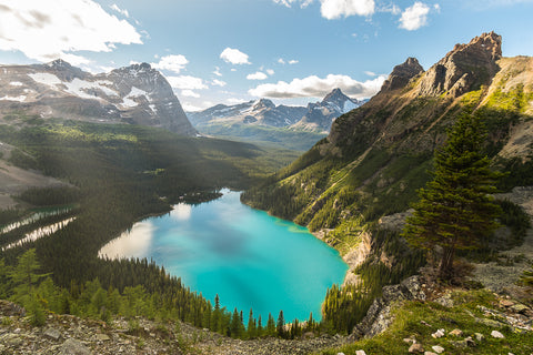 Sun Rays on Lake O'Hara, Yoho National Park
