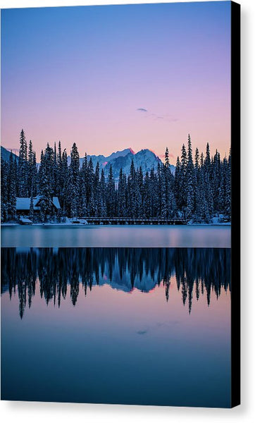 Emerald Lake Lodge Relfection, Yoho National Park, British Columbia - Canvas Print