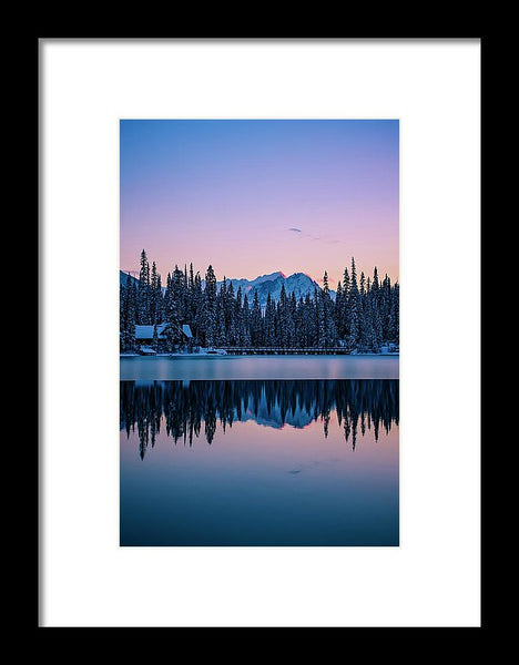 Emerald Lake Lodge Relfection, Yoho National Park, British Columbia - Framed Print