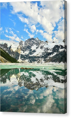 Lake Of The Hanging Glacier, Purcell Mountains, British Columbia - Canvas Print