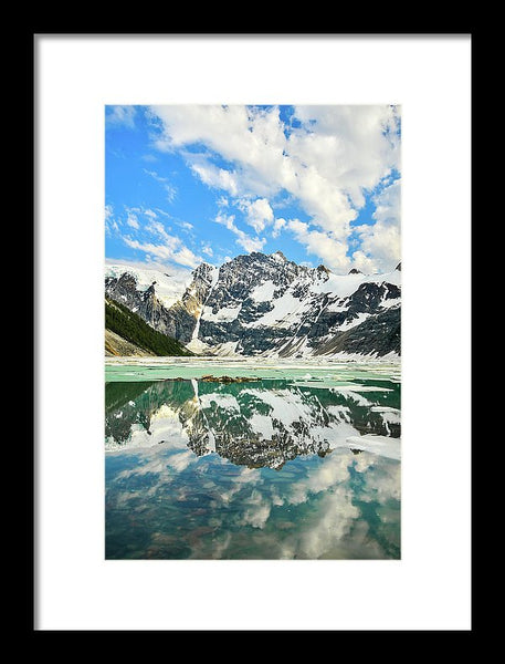 Lake Of The Hanging Glacier, Purcell Mountains, British Columbia - Framed Print