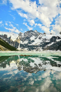 Lake Of The Hanging Glacier, Purcell Mountains, British Columbia - Art Print