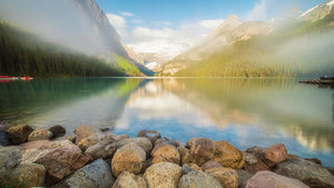 Morning Reflection On Lake Louise, Banff, Canada - Art Print