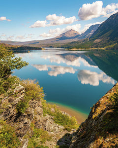 Reflection St Mary Lake, Glacier National Park, Montana 2 - Art Print