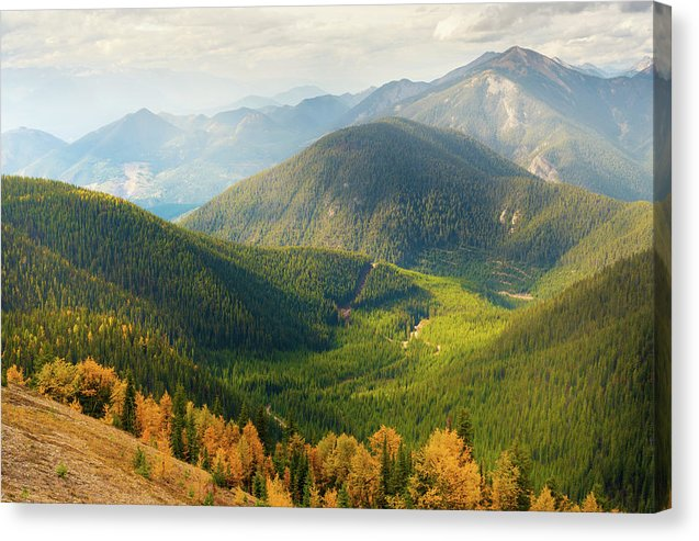Rolling Mountains Pedley Pass In Fall, British Columbia, Canada 1 - Canvas Print