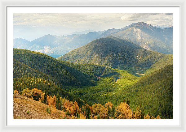 Rolling Mountains Pedley Pass In Fall, British Columbia, Canada 1 - Framed Print