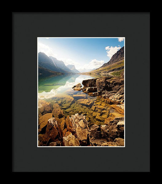 Reflection St Mary Lake, Glacier National Park, Montana 3 - Framed Print