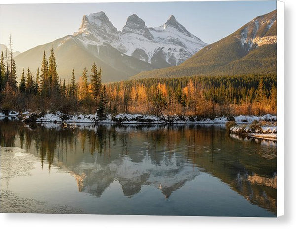 Three Sisters Mountains, Canmore, Alberta 2 - Canvas Print