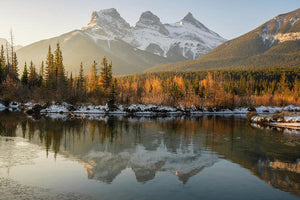 Three Sisters Mountains, Canmore, Alberta 2 - Art Print