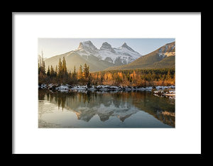Three Sisters Mountains, Canmore, Alberta 2 - Framed Print