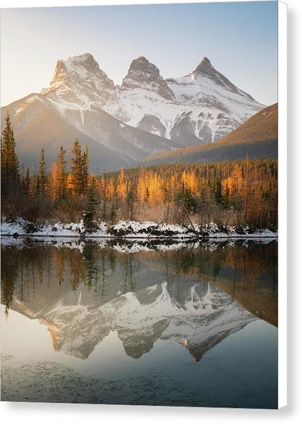 Three Sisters Mountains, Canmore, Alberta 3 - Canvas Print