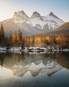 Three Sisters Mountains, Canmore, Alberta 3 - Art Print