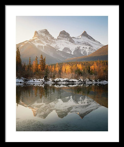 Three Sisters Mountains, Canmore, Alberta 3 - Framed Print