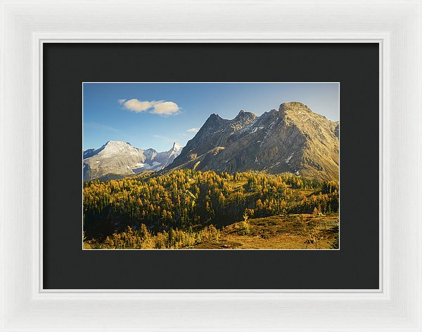 Bastille Mountain, Jumbo Pass In Fall, British Columbia - Framed Print