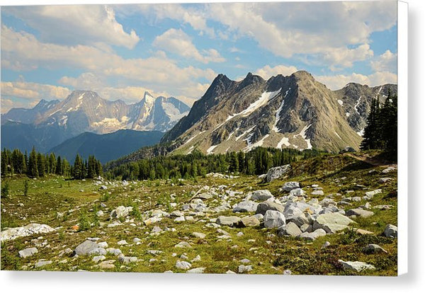 Bastille Mountain Landscape, Jumbo Pass, British Columbia - Canvas Print