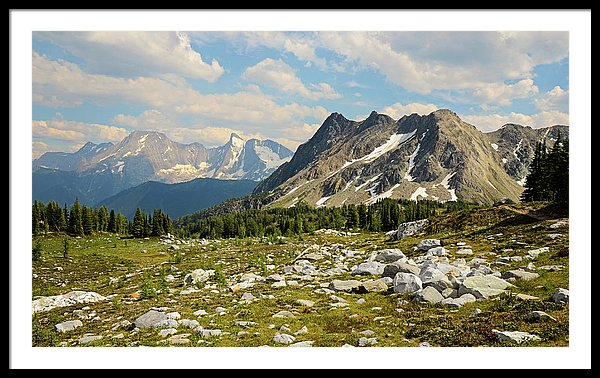 Bastille Mountain Landscape, Jumbo Pass, British Columbia - Framed Print