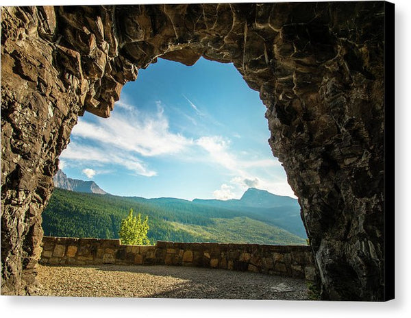 Cave Lookout Going To The Sun Road, Glacier National Park, Monta - Canvas Print