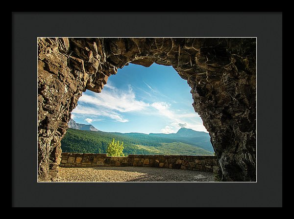 Cave Lookout Going To The Sun Road, Glacier National Park, Monta - Framed Print