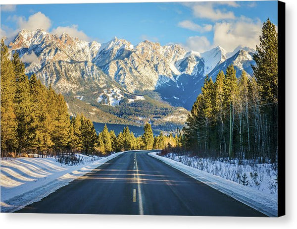 Fairmont Hot Springs In Winter, British Columbia - Canvas Print