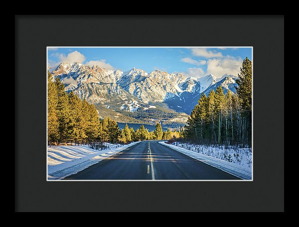 Fairmont Hot Springs In Winter, British Columbia - Framed Print