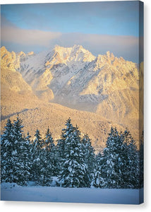 Fairmont Range, British Columbia, Winter Sunset - Canvas Print