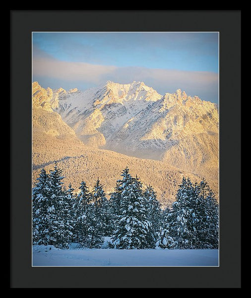 Fairmont Range, British Columbia, Winter Sunset - Framed Print