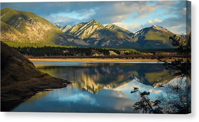 First Day Of Spring, Columbia Wetlands, British Columbia  - Canvas Print