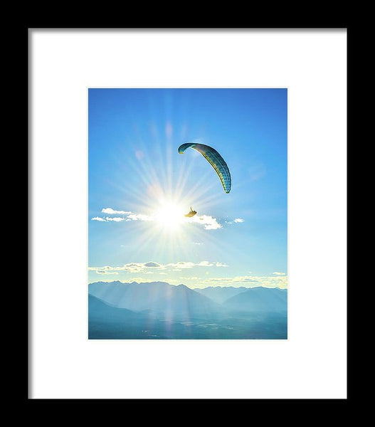 Flight Into The Sun - Framed Print