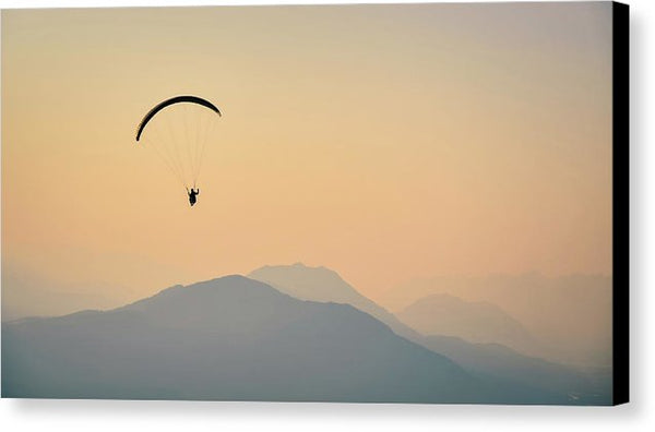 Hazy Mountain Flight - Canvas Print