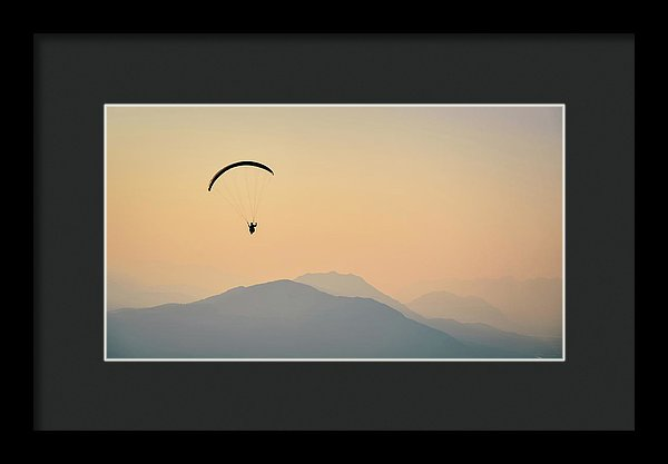 Hazy Mountain Flight - Framed Print