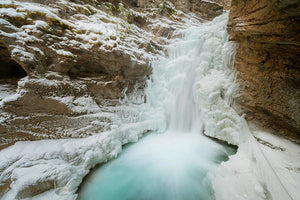 Johnton Canyon In Winter, Banff, Alberta - Art Print