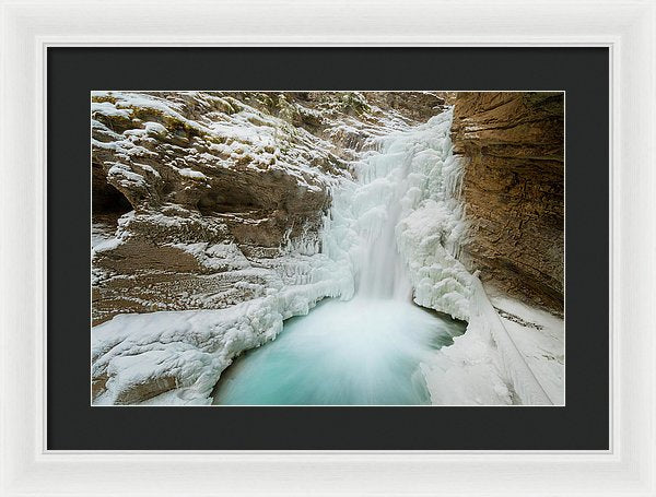 Johnton Canyon In Winter, Banff, Alberta - Framed Print