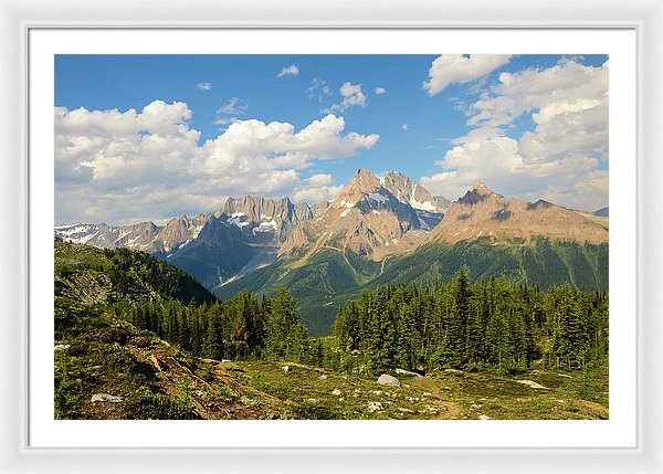 Jumbo Pass, Purcell Mountains, British Columbia - Framed Print