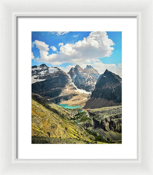 Lake Oesa, Yoho National Park, British Columbia - Framed Print