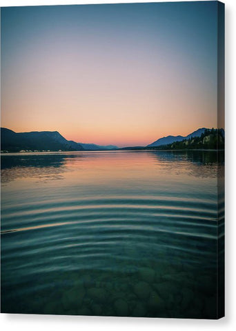 Lake Sunset Mountains - Canvas Print
