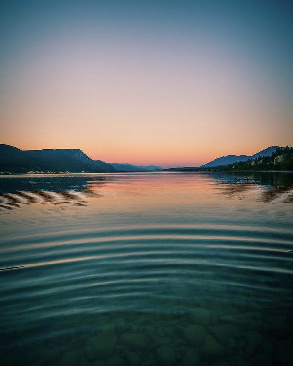 Lake Sunset Mountains - Art Print