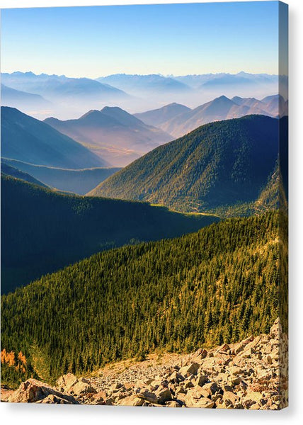 Layered Mountains from Pedley Pass, British Columbia - Canvas Print