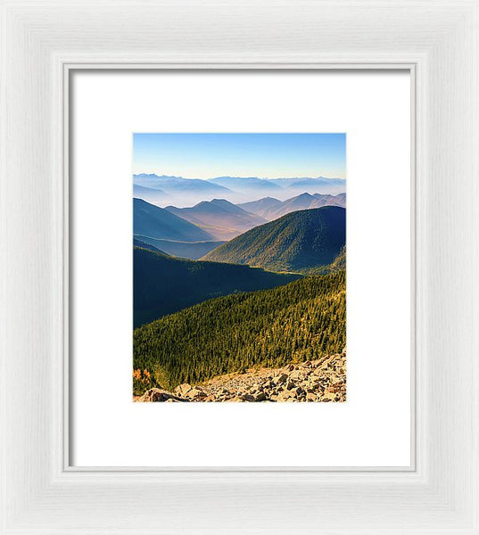 Layered Mountains from Pedley Pass, British Columbia - Framed Print