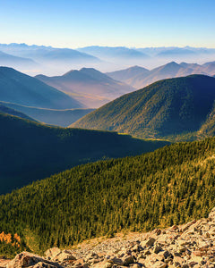 Layered Mountains from Pedley Pass, British Columbia - Art Print