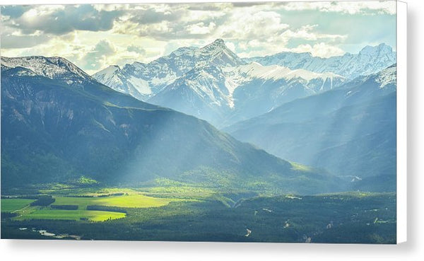 Light Rays in the Columbia Valley, Invermere, British Columbia - Canvas Print