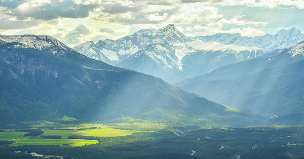 Light Rays in the Columbia Valley, Invermere, British Columbia - Art Print