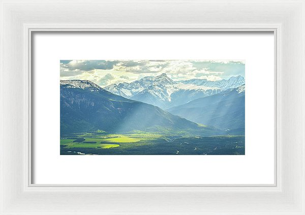 Light Rays in the Columbia Valley, Invermere, British Columbia - Framed Print