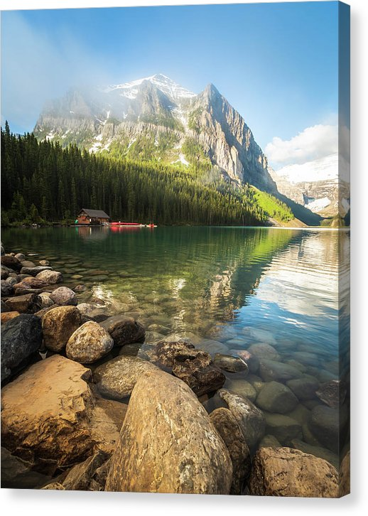 Morning Reflection On Lake Louise, Banff, Canada - Canvas Print