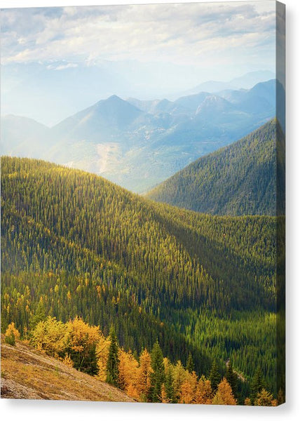 Rolling Mountains Pedley Pass In Fall, British Columbia, Canada - Canvas Print