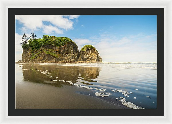 Ruby Beach Ocean Reflection Washington - Framed Print