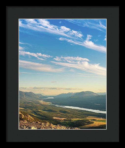 Summer Sky From Swansea Mountain, Invermere, British Columbia - Framed Print